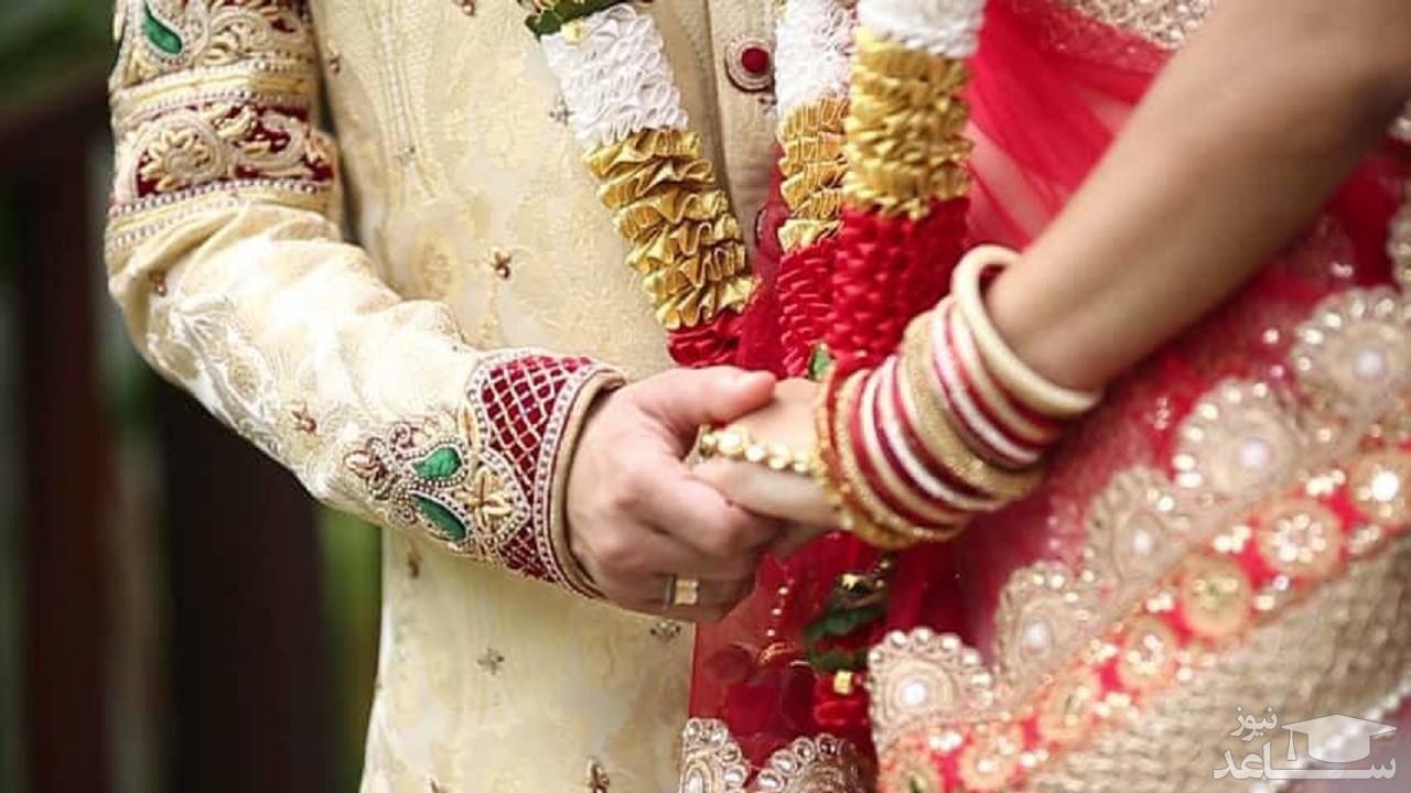 بازی کردن عروس و داماد در وسط جشن عروسی! + فیلم