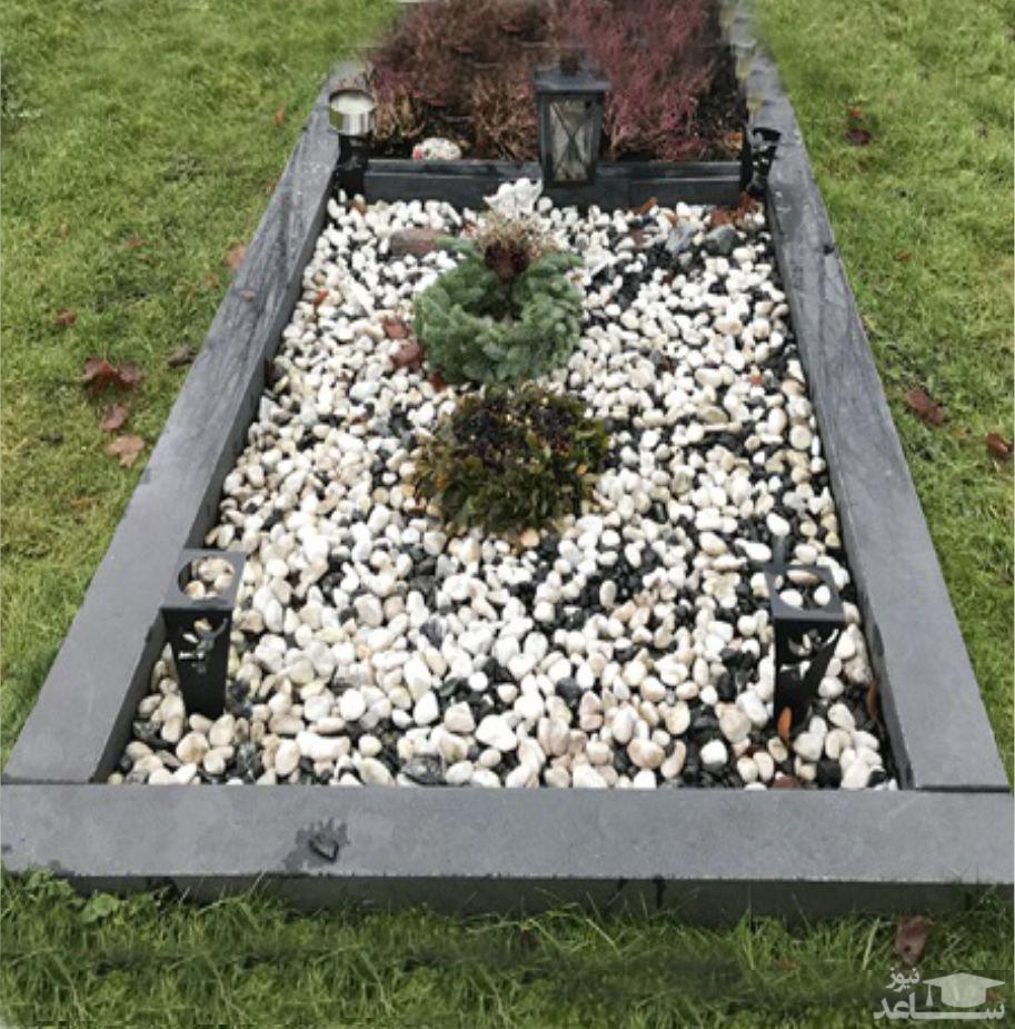 (عکس) آخرین قسط این سنگ قبر پرداخت شد