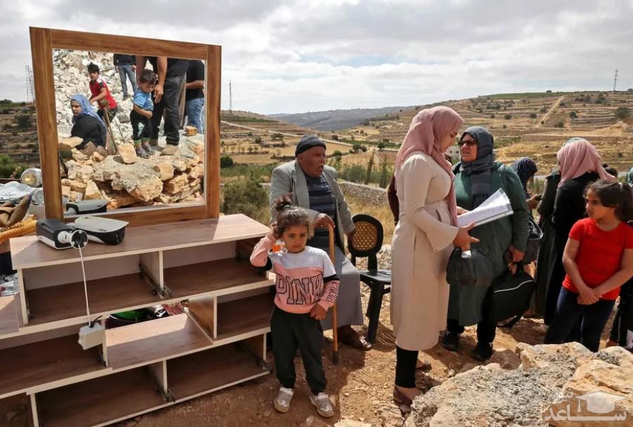 تخریب خانه یک خانواده فلسطینی در کرانه باختری اشغالی از سوی اسراییل
