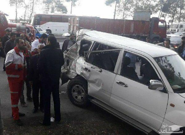 علت تصادف خودرو همراهان وزیر کار اعلام شد