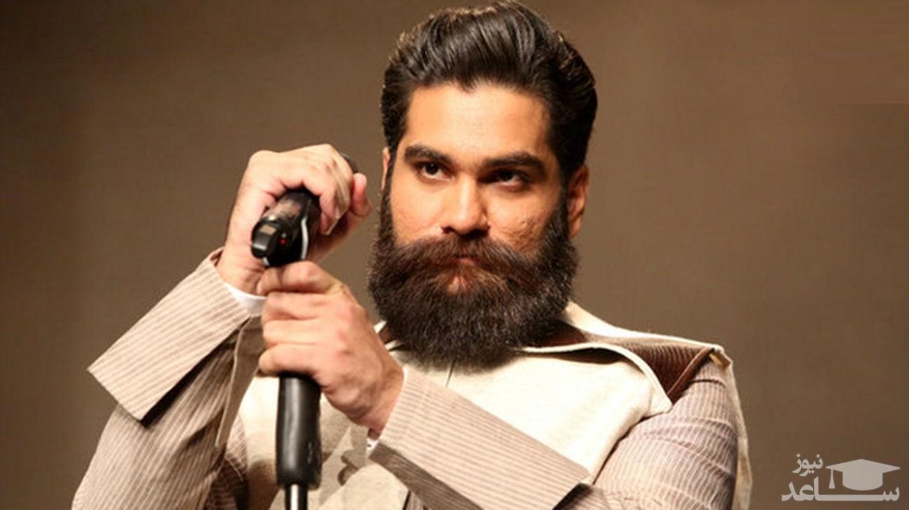 (فیلم) بازی جالب علی زندوکیلی با شیر دل خان کوچولو