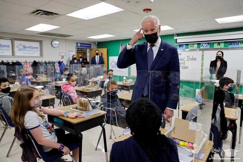 بازدید جو بایدن از مدرسه