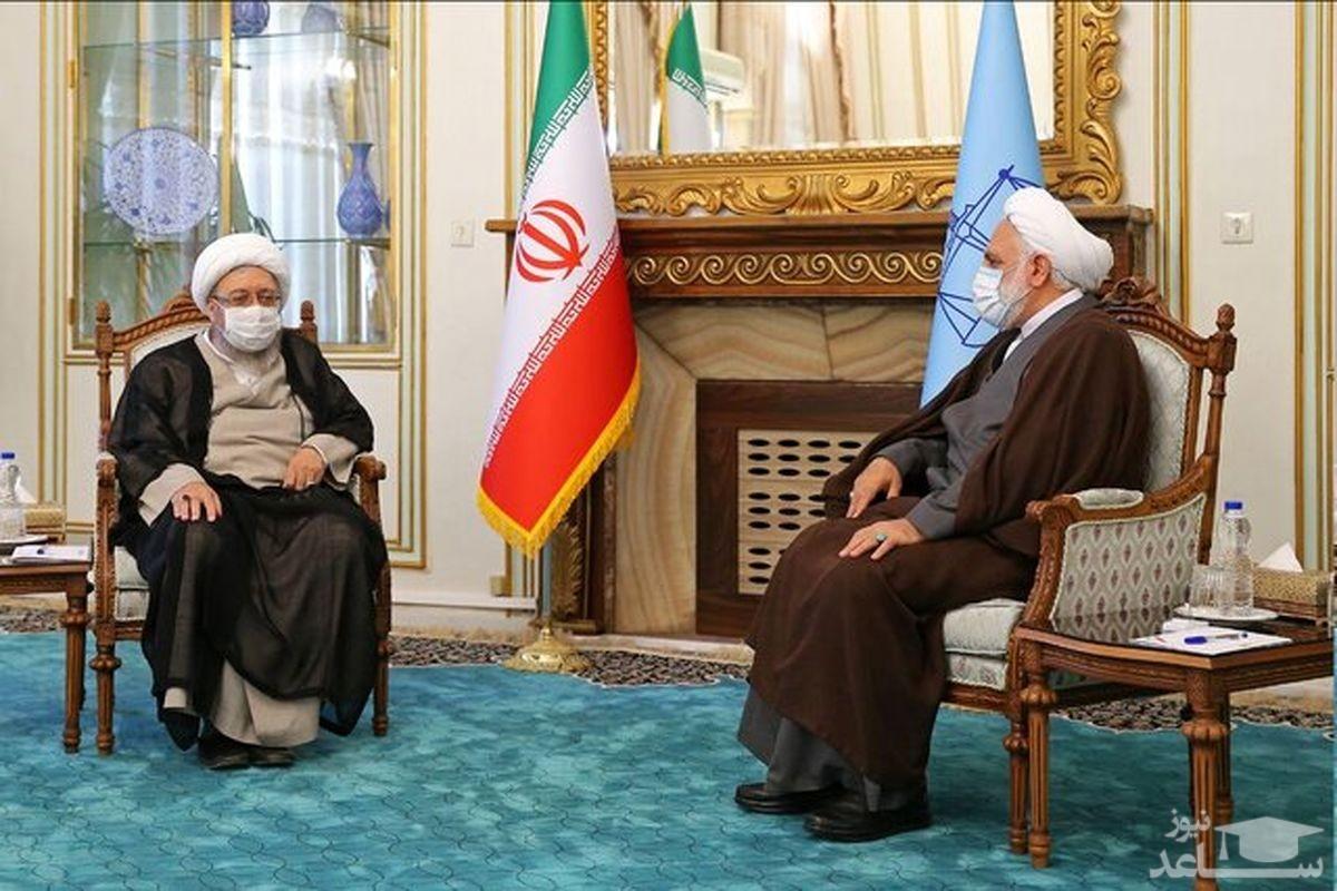 رئیس مجمع تشخیص مصلحت نظام با رئیس قوه قضائیه دیدار کرد