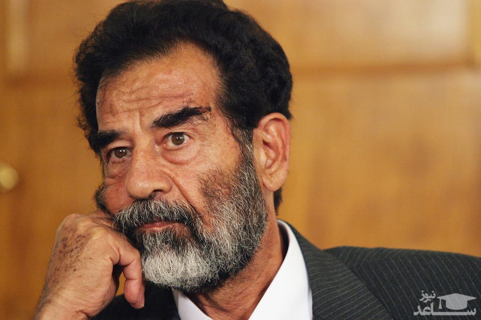 (فیلم) شعار مرگ بر فارسها آخرین حرف صدام قبل از اعدام!