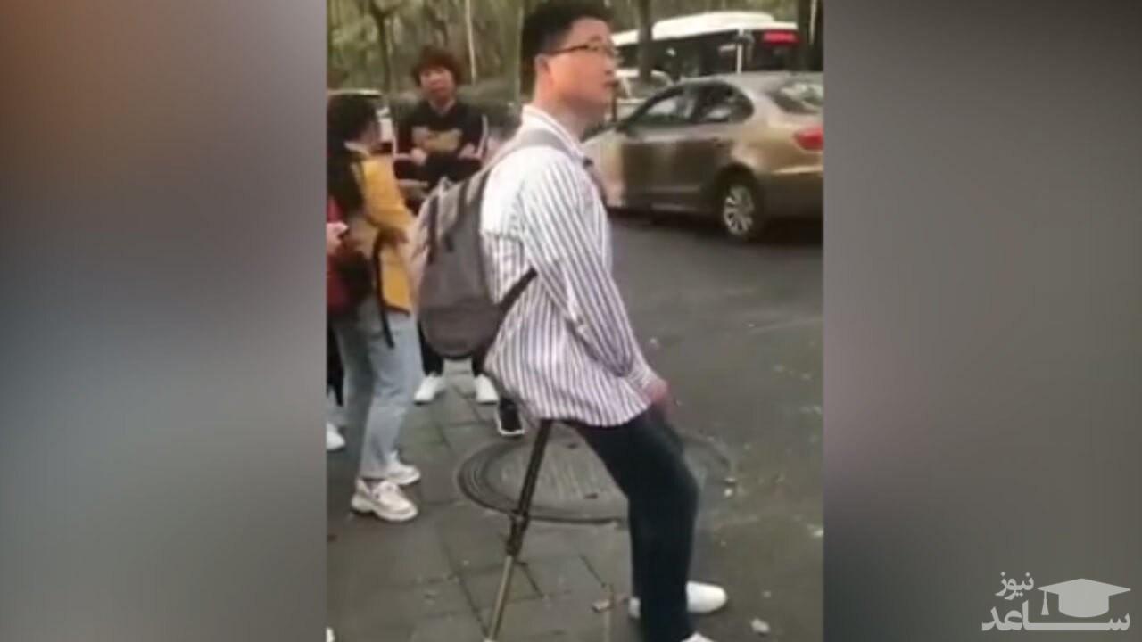 (فیلم) عصای جالبی که به صندلی تبدیل میشود