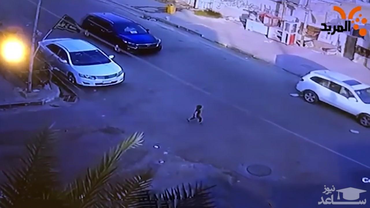 (فیلم) عاقبت رها کردن کودک در خیابان