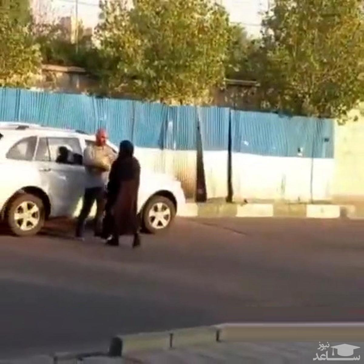 (فیلم) بدلکاری جالب سر صحنه فیلم مهدی کوشکی