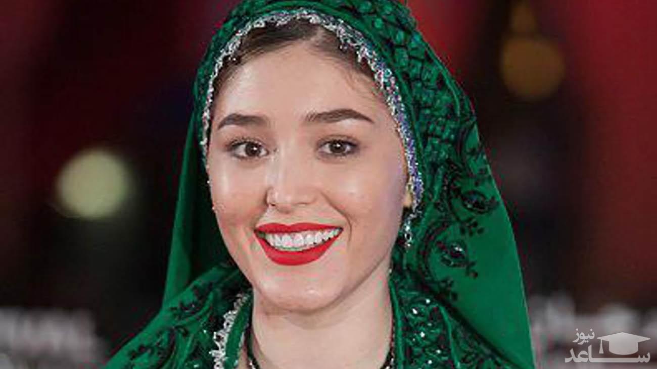 سلفی ماشینی فرشته حسینی در خارج از کشور