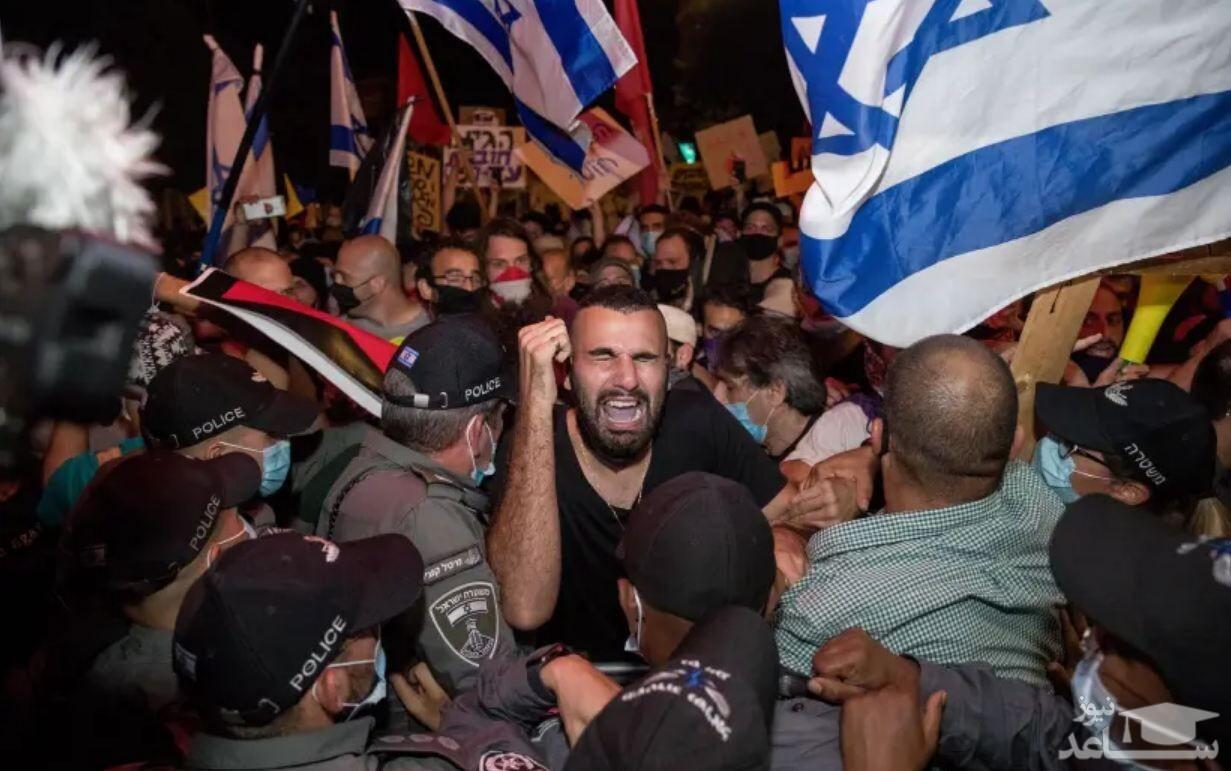 حمله پلیس رژیم صهیونیستی به فلسطینیهای معترض به سفر نتانیاهو به ناصره