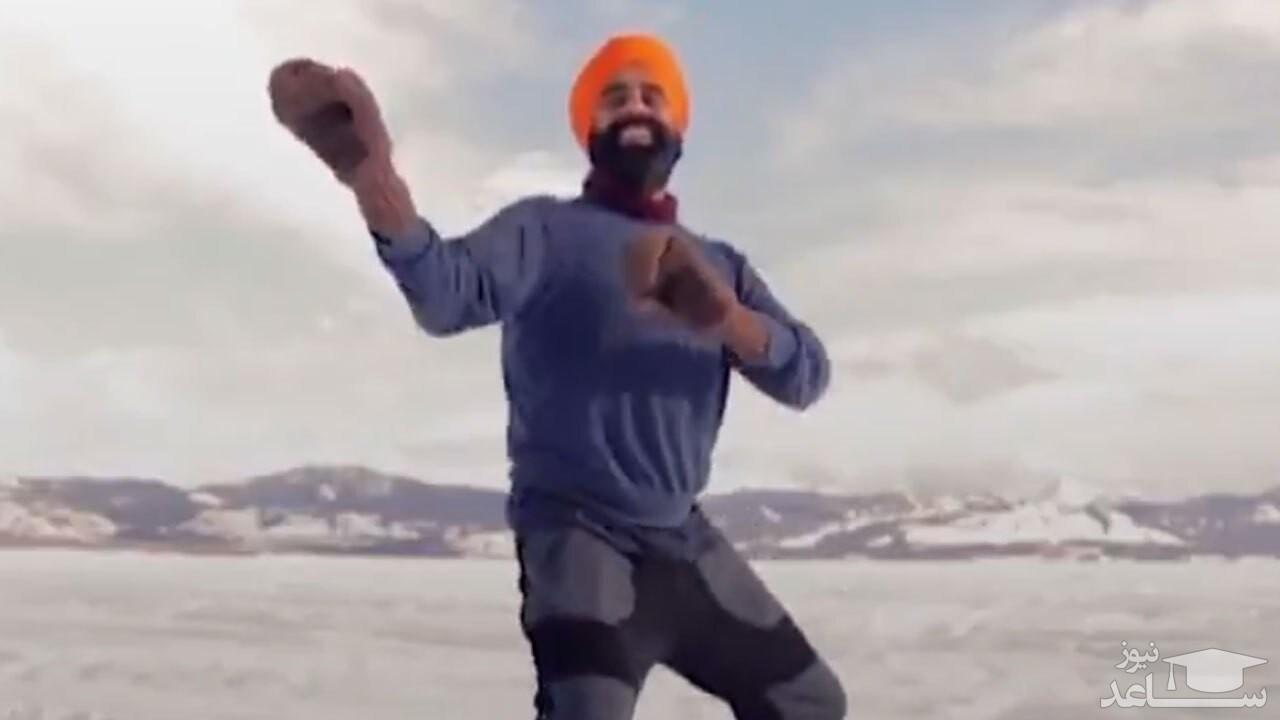 (فیلم) رقص بانگرای یک مرد کانادایی - هندی پس از دریافت واکسن کرونا