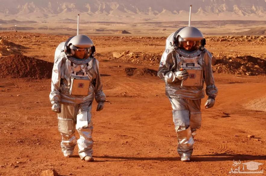 """تمرین مشترک فضانوردان اروپایی و اسراییل در """"ماموریت آموزشی سیاره مریخ"""" در صحرای نقب/ خبرگزاری فرانسه"""