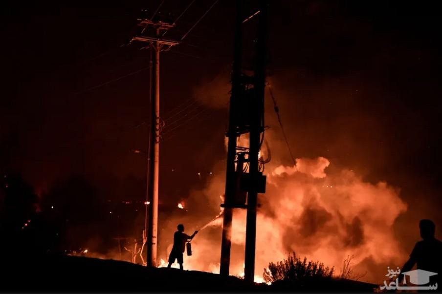 تلاش برای مهار آتش سوزی جنگلی