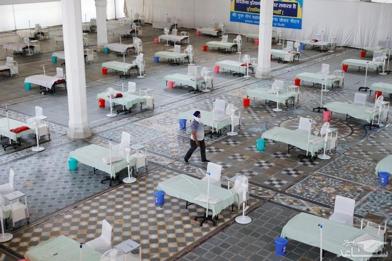تبدیل معابد به محل بستری بیماران در هند