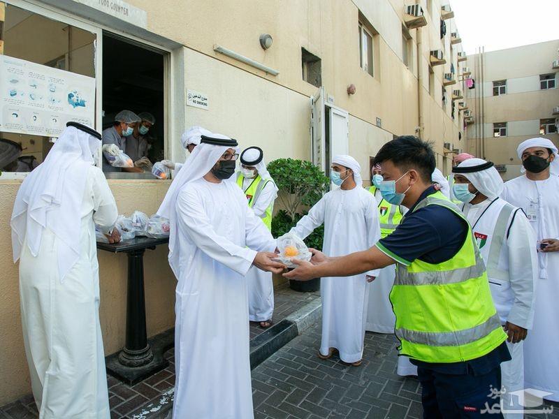 توزیع غذاهای افطار در دبی