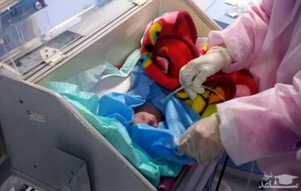 تولد نوزاد از مادر کرونایی در سبزوار
