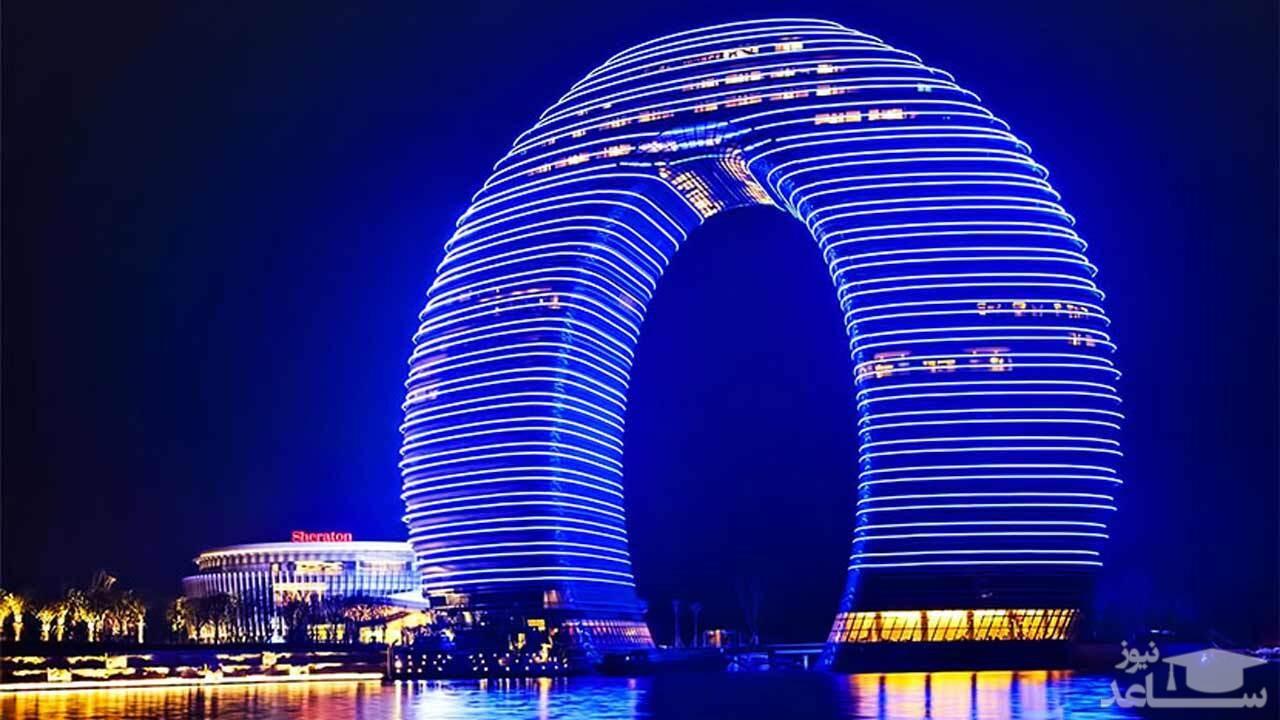 (فیلم) هتلی با ظاهر عجیب در چین