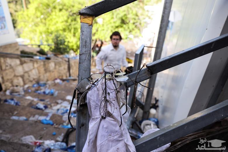 مرگ ده ها نفر ازدحام در یک مراسم آیینی یهودیان اسراییل