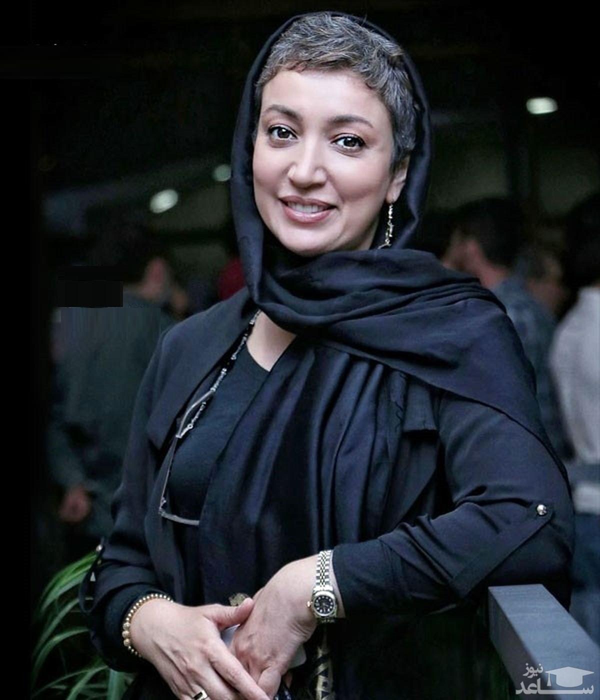 تیپ متفاوت نگار عابدی در پشت صحنه دودکش
