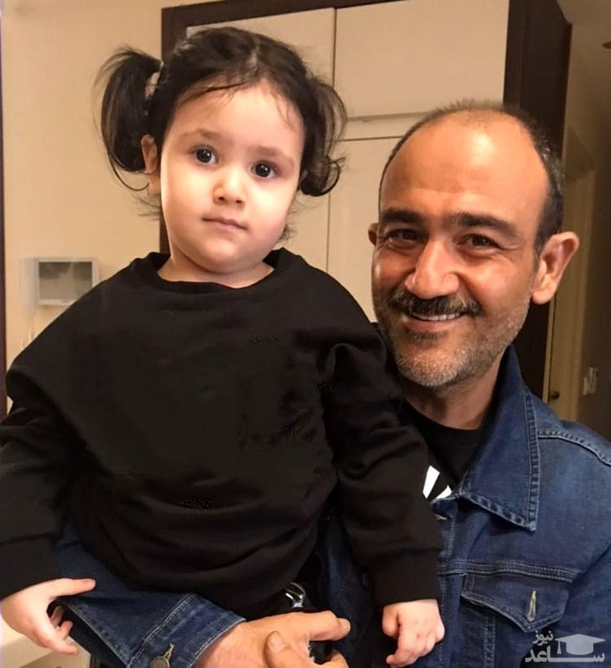 خوشحالی دختر مهران غفوریان از مرخص شدن پدرش