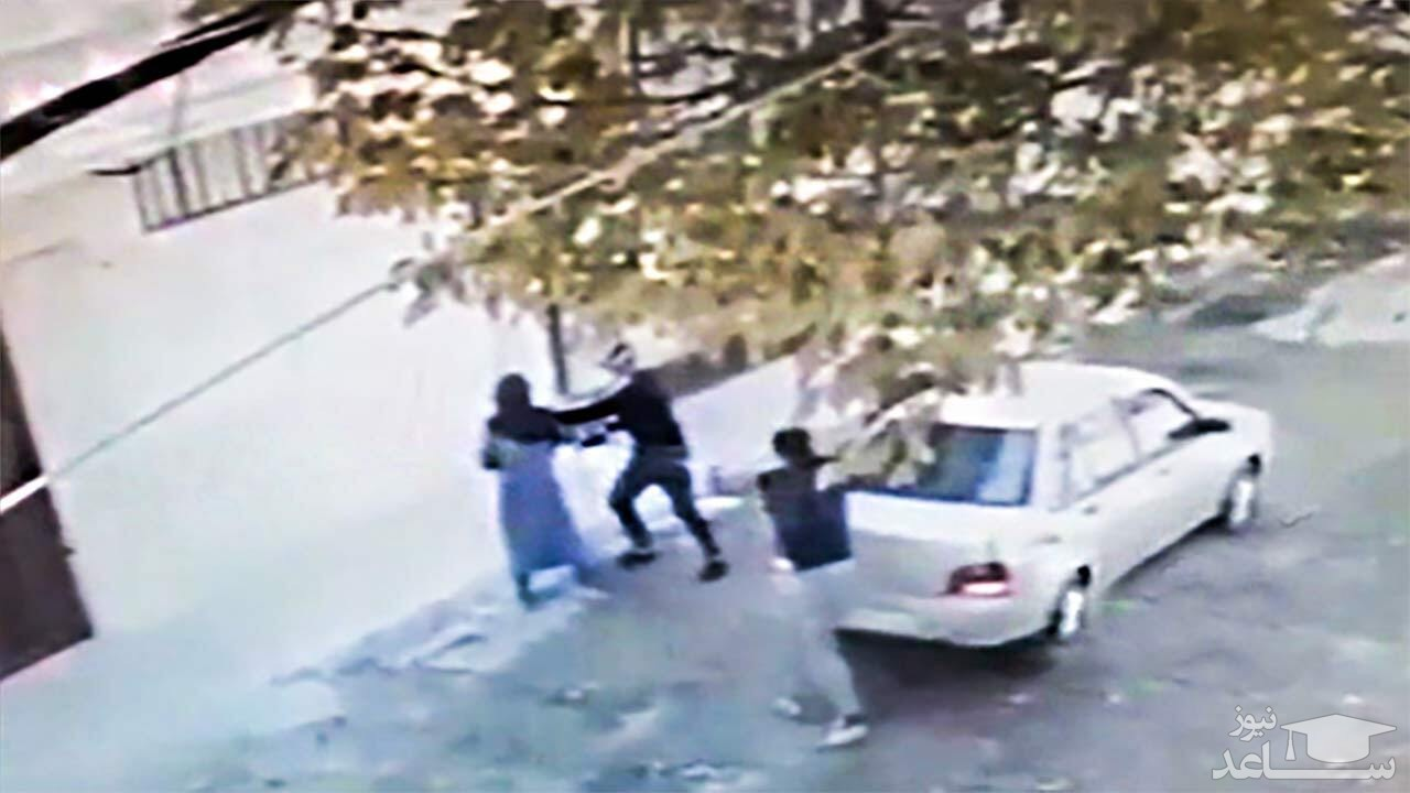 (فیلم) دستگیری عاملان زورگیری وحشیانه از یک زن تنها در کرمانشاه