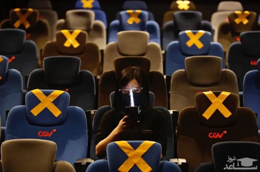 بازگشایی دوباره سینماها در شهر جاکارتا اندونزی/ EPA