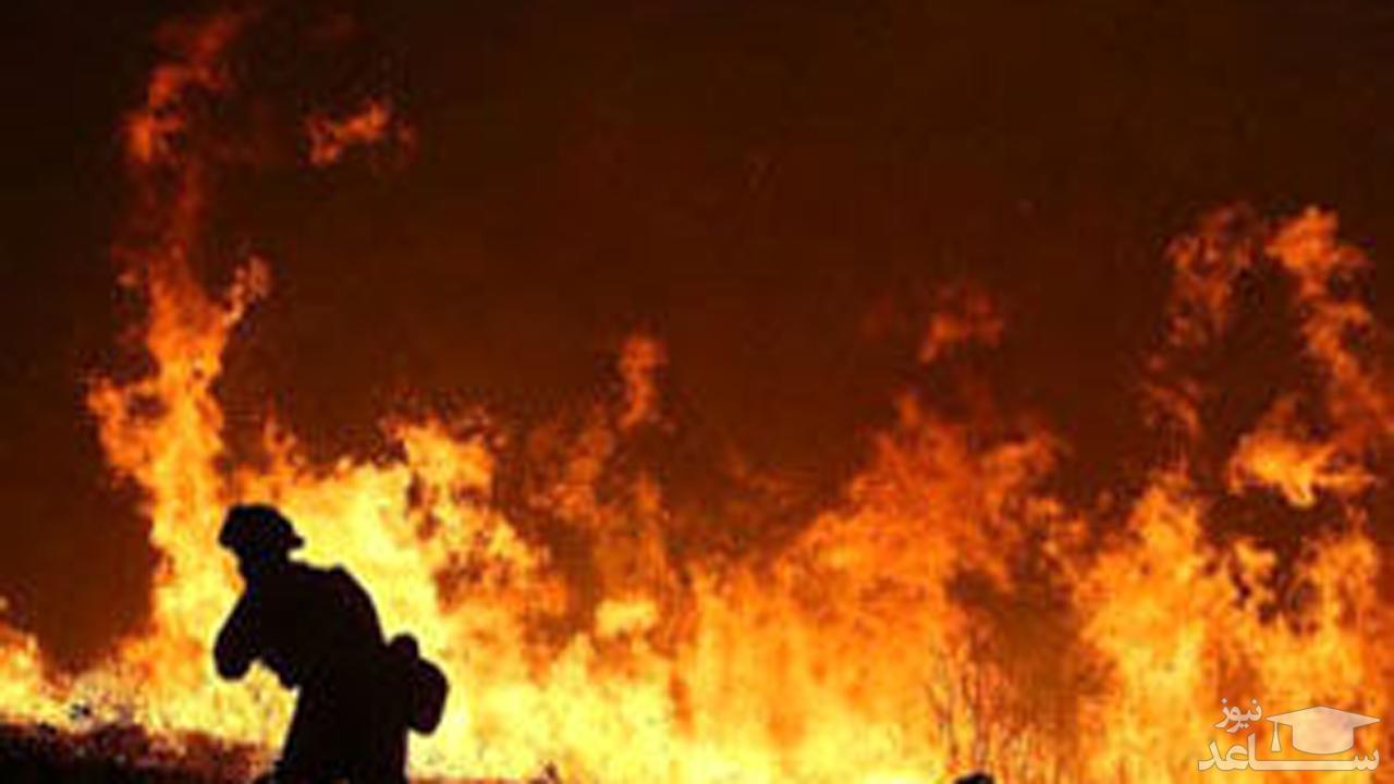 (فیلم) آتش سوزی در بخش زایمان بیمارستان
