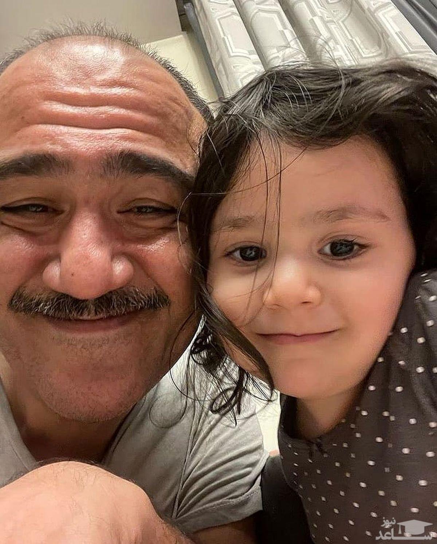 بی تابی مهران غفوریان برای دخترش