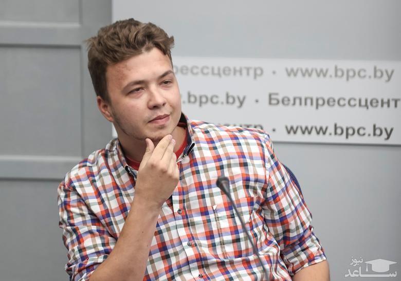 """نشست خبری """"رومان پروتاسویچ"""" روزنامه نگار منتقد دستگیر شده از سوی حکومت بلاروس در شهر مینسک"""