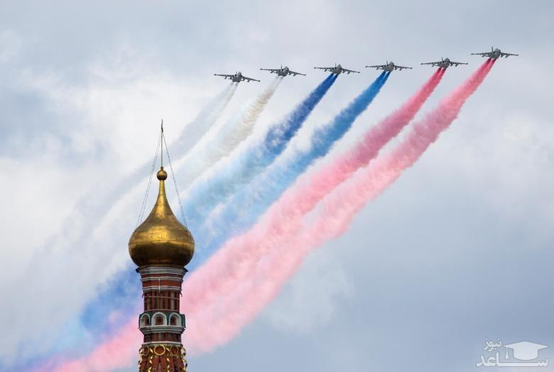 نمایش هوایی در مسکو
