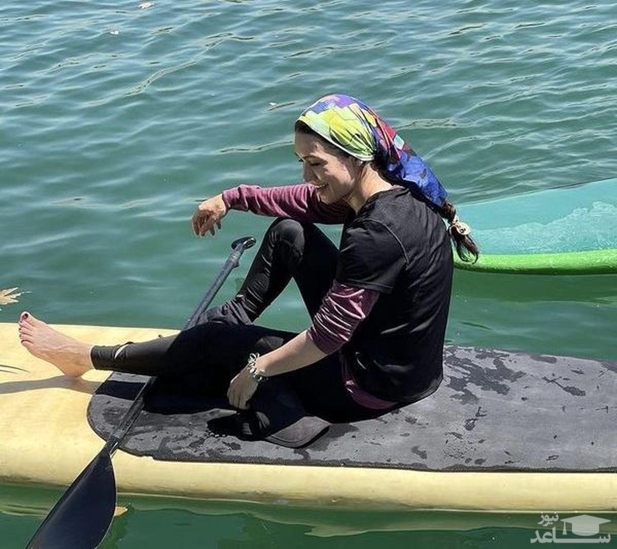 قایق سواری شهرزاد کمال زاده