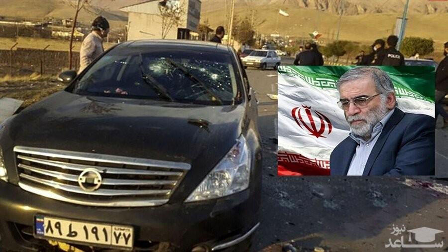 عکس شهید محسن فخری زاده بعد از شهادت در منزلش در مراسم وداع