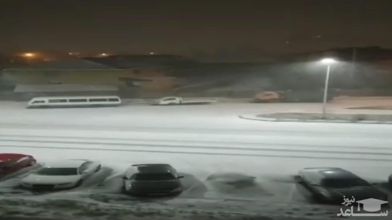 (فیلم) بارش برف سنگین در پایتخت قزاقستان