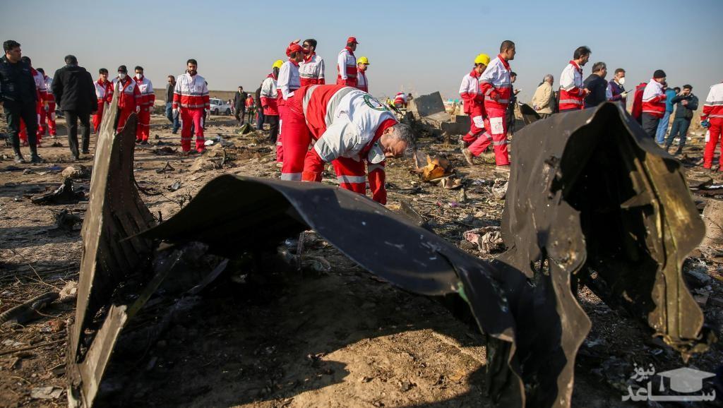 ویدئوی دوربین مدار بسته از سقوط هواپیمای اوکراینی