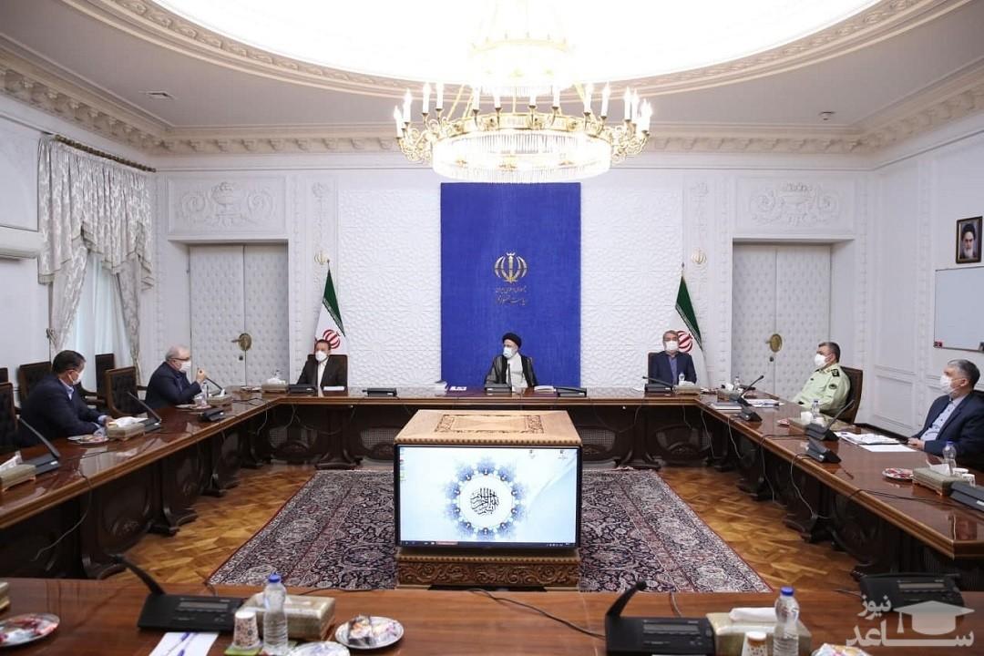حضور رئیسی در جلسه روسای کمیتههای تخصصی کرونا
