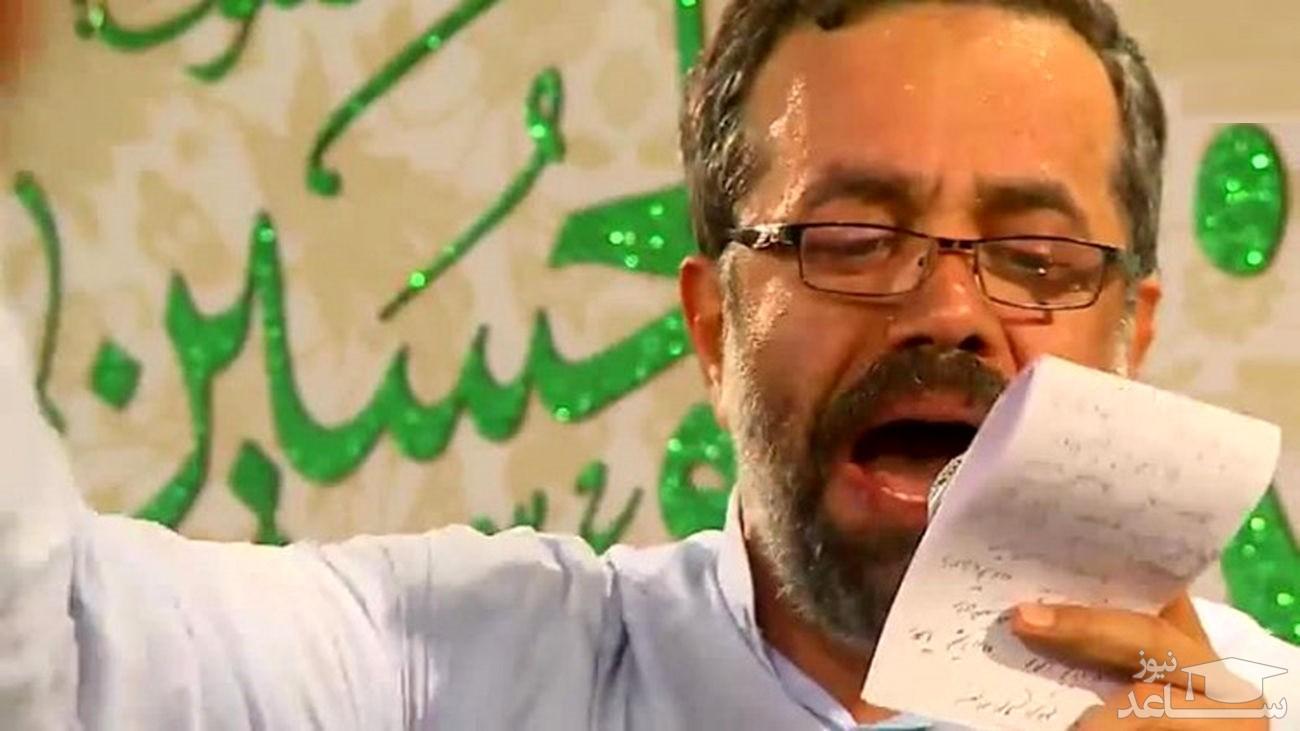 حاج محمود کریمی روی تخت بیمارستان