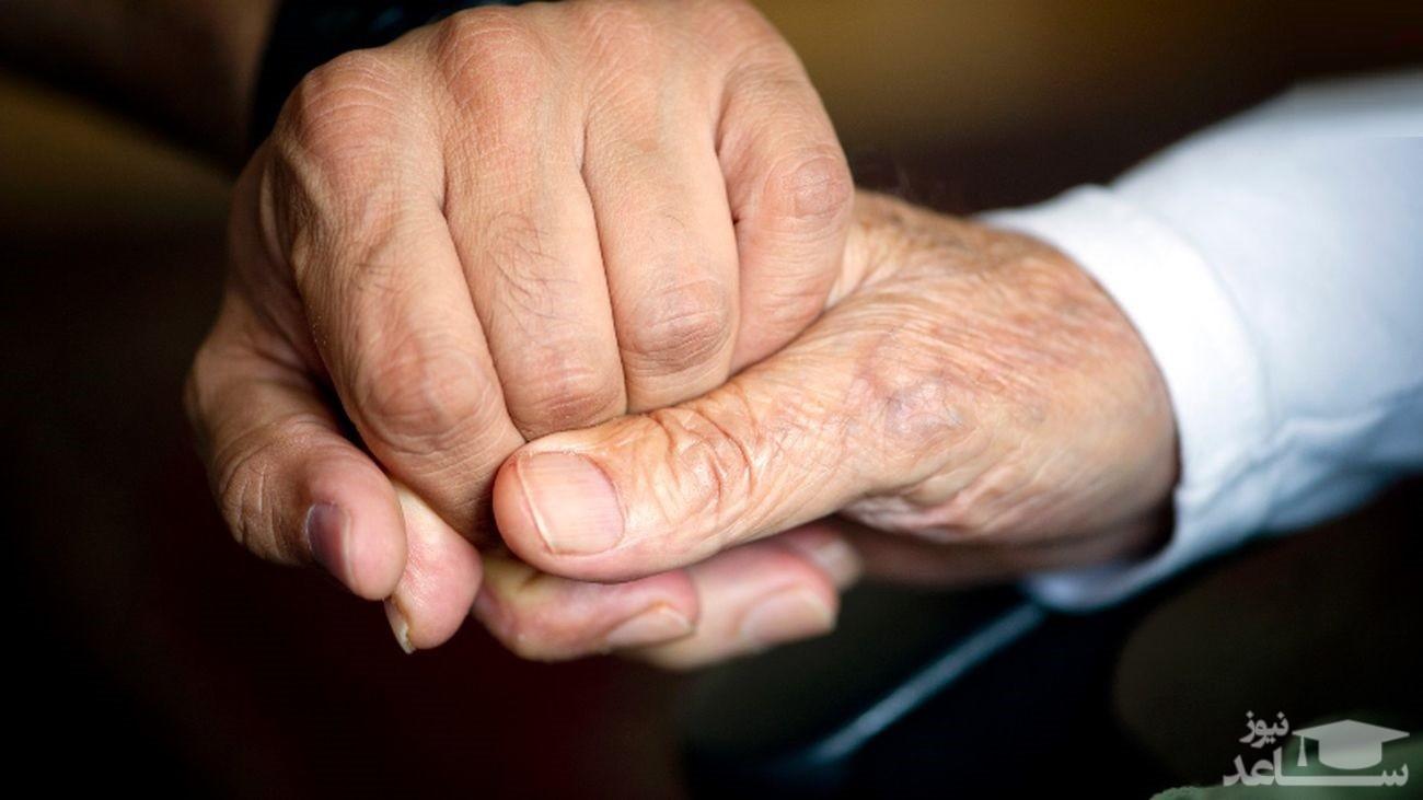 تصویر عاشقانه پیرمرد و پیرزن تهرانی که غوغا کرد