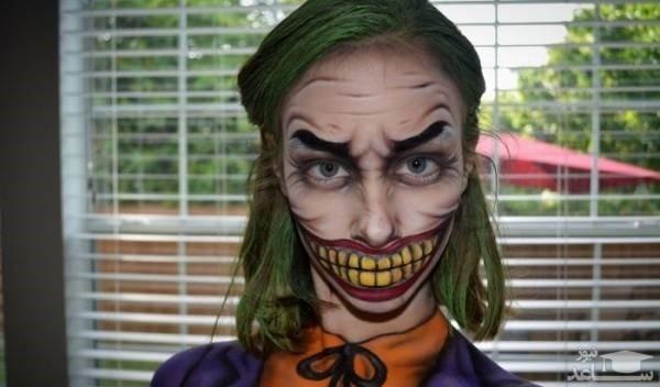 شهرت دختر نوجوان با گریم های عجیب روی صورتش!