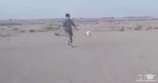 (فیلم) حرکات جالب نوجوان بلوچی با توپ فوتبال