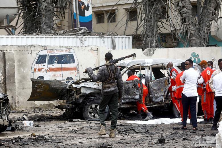حمله انتحاری به نزدیکی کاخ ریاست جمهوری سومالی در شهر موگادیشو/ رویترز