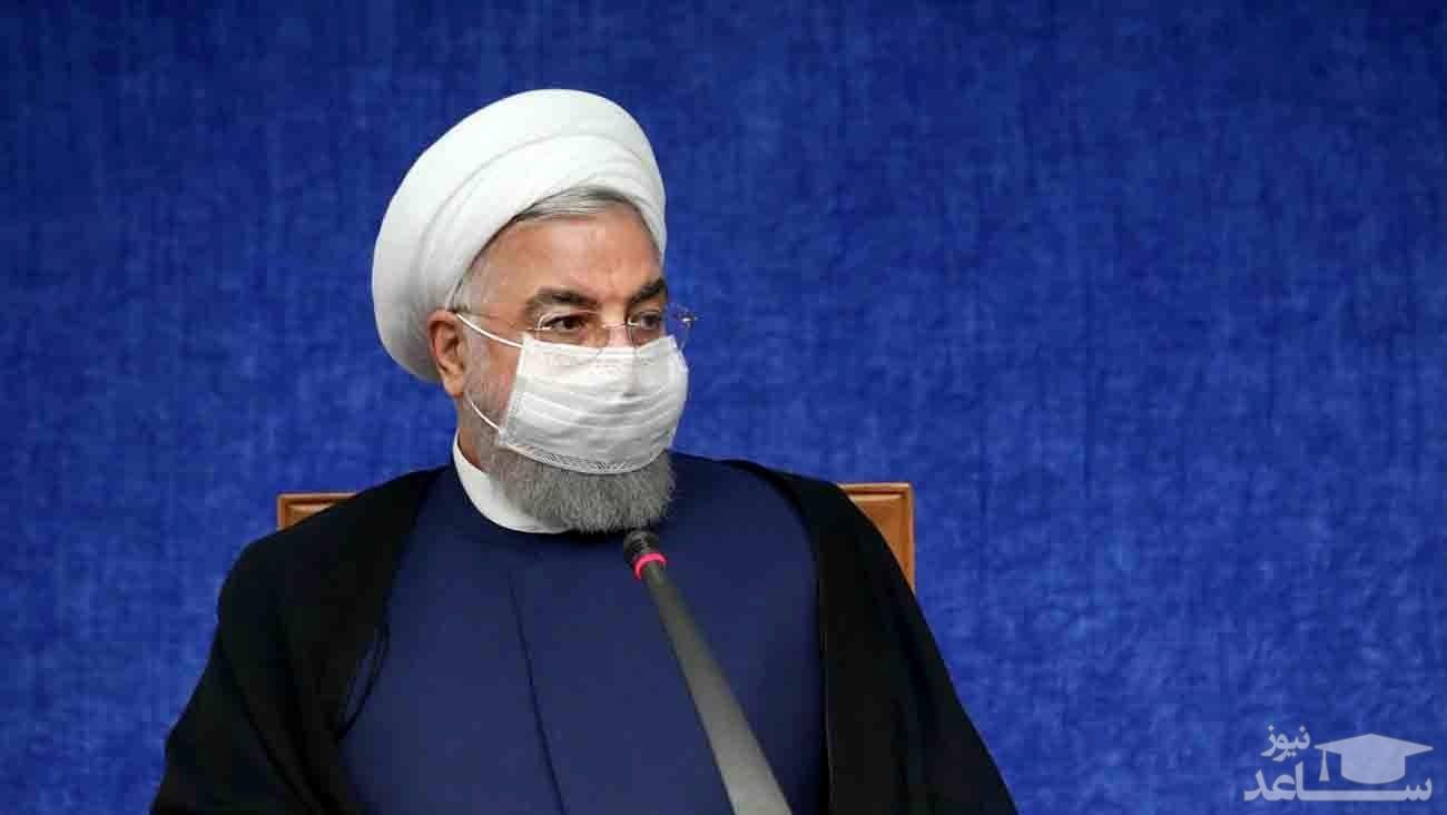 روحانی: امیدوارم با افتخار ماههای پرخطر را از سر بگذرانیم