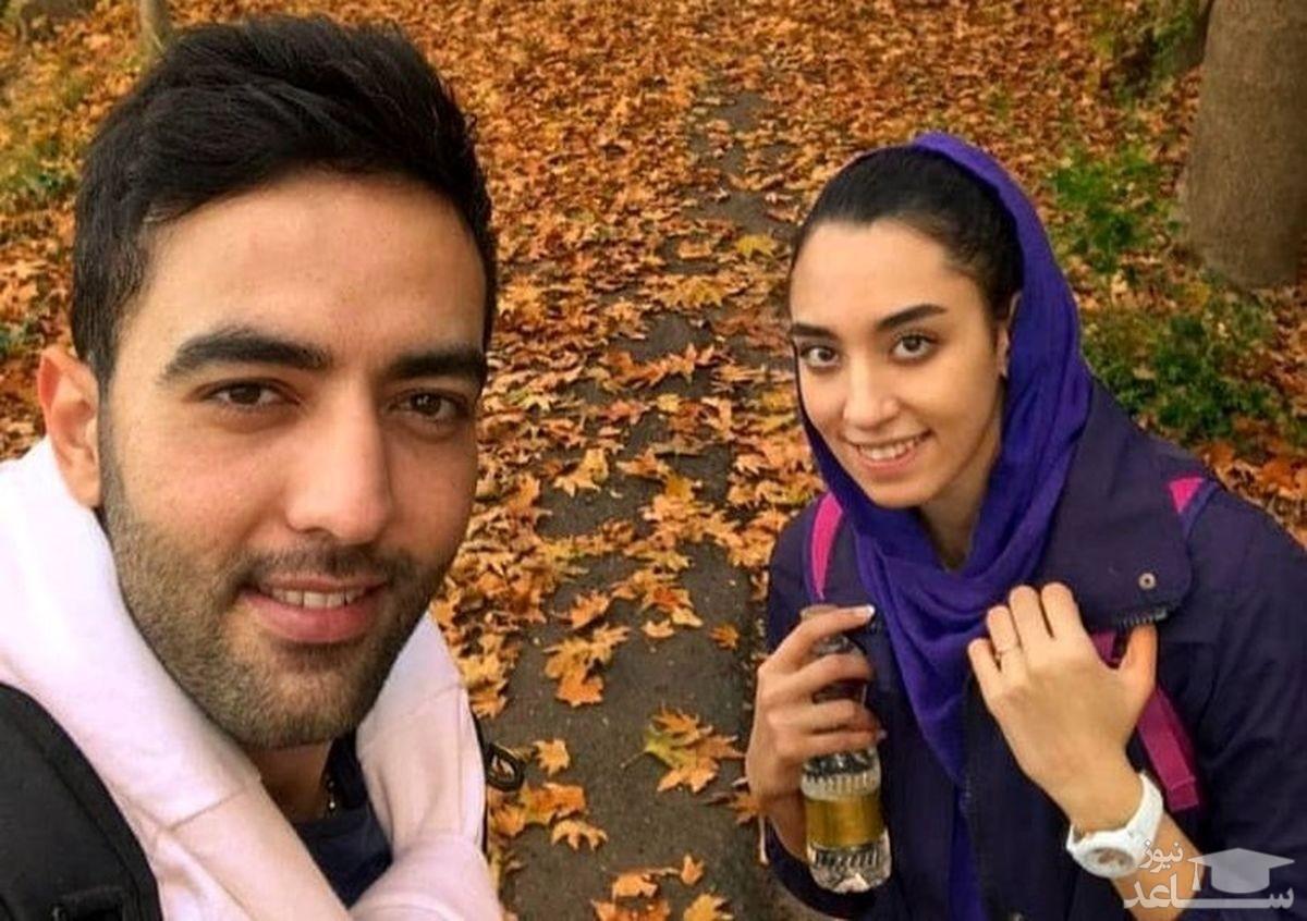 عکس لو رفته از کیمیا علیزاده در لباس عروس