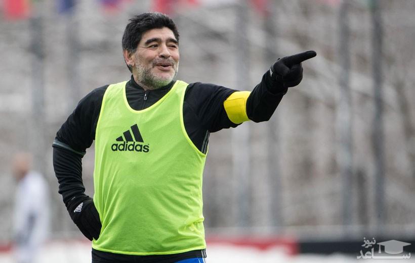 (فیلم) رقص مارادونا پس از پیروزی تیمش