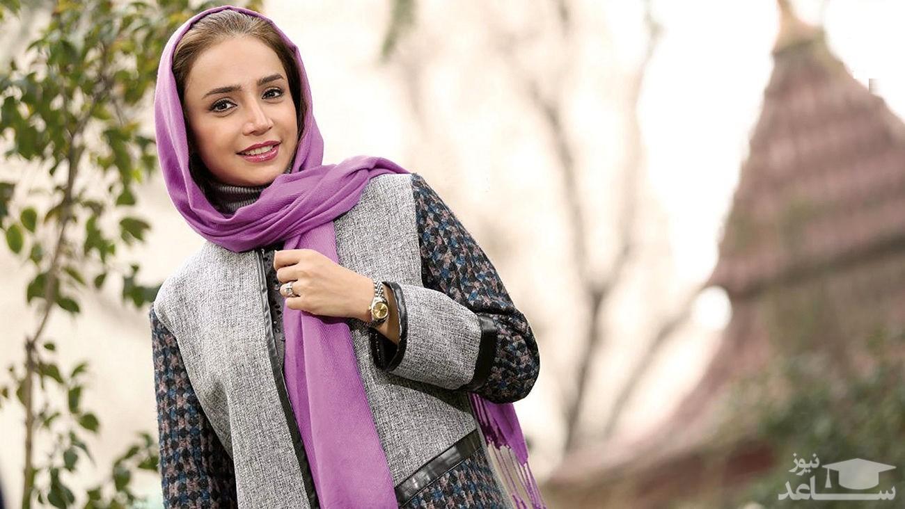 شبنم قلی خانی با لباس سنتی