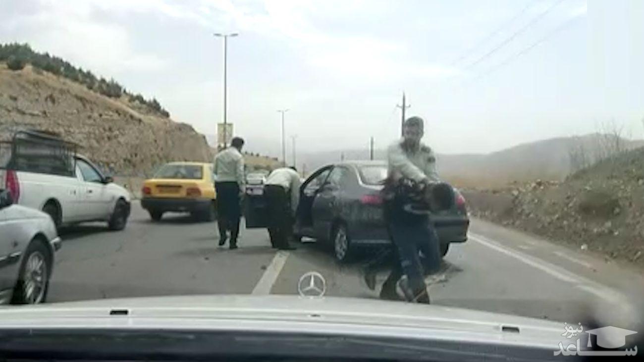 (فیلم) تعقیب و گریز هالیوودی پلیس تهران با تبهکاران