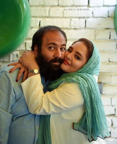 سلفی آسانسوری علی اوجی با زن و مادرزنش