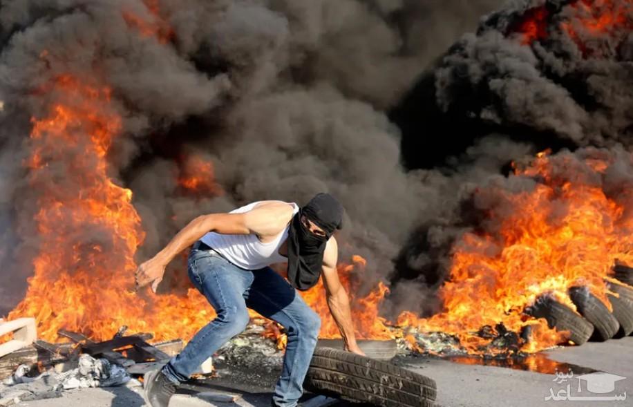 تظاهرات ضداسراییلی جوانان فلسطینی