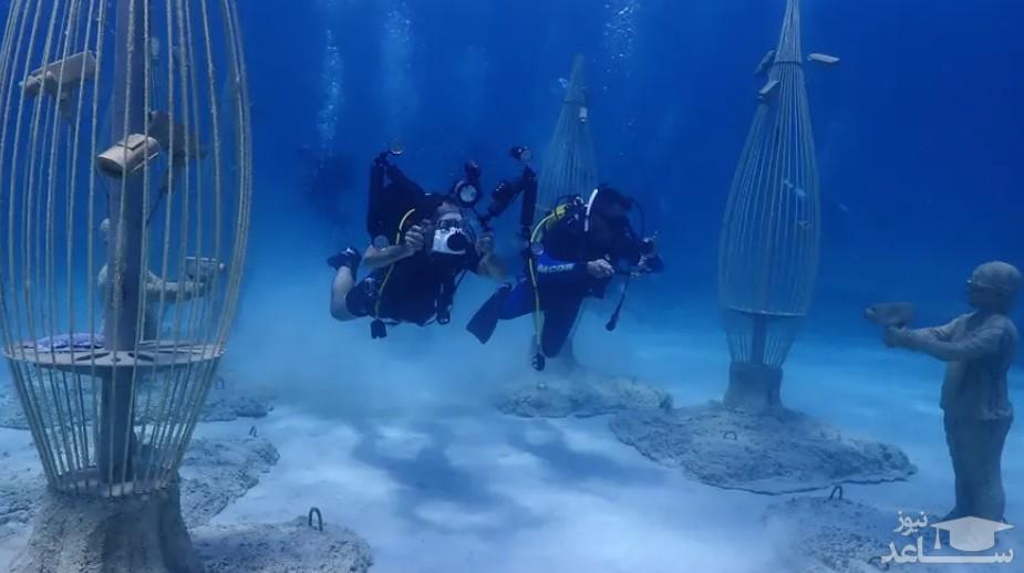 بازدید از موزه زیر آبی در قبرس