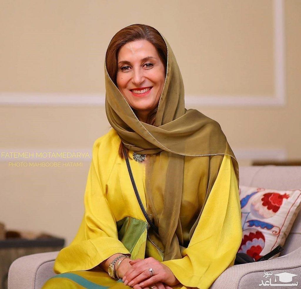 فاطمه معتمدآریا در مراسم تشییع پیکر پرویز پورحسینی