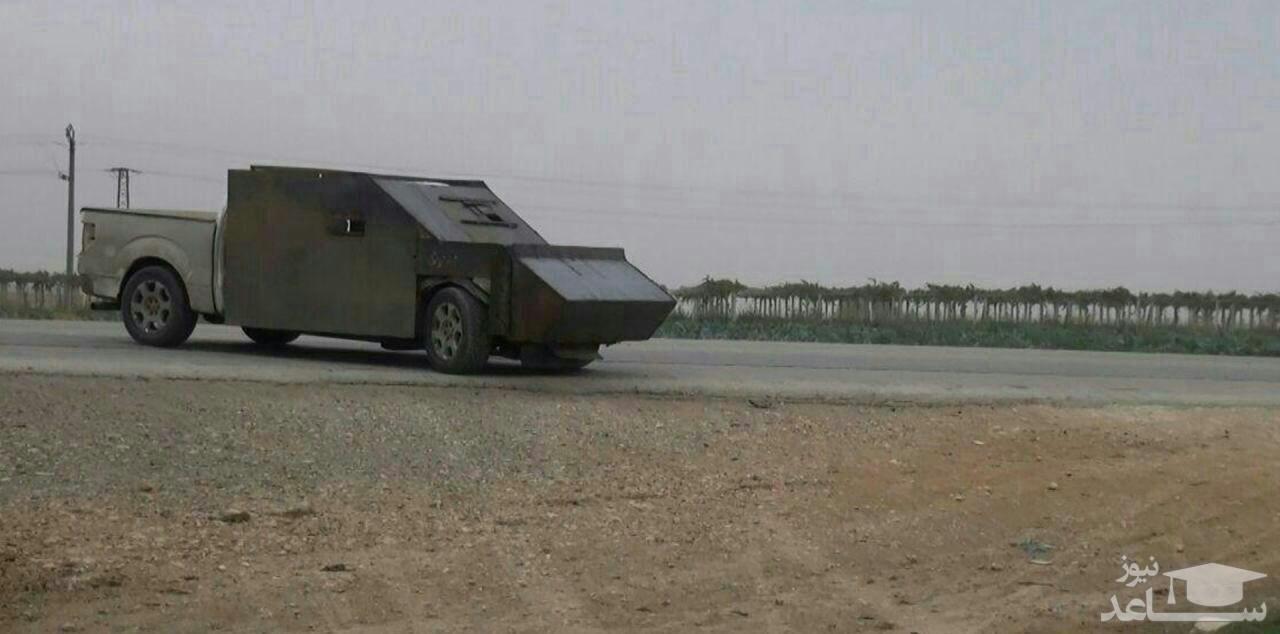 فیلم انهدام خودروی انتحاری متعلق به تروریست های داعش