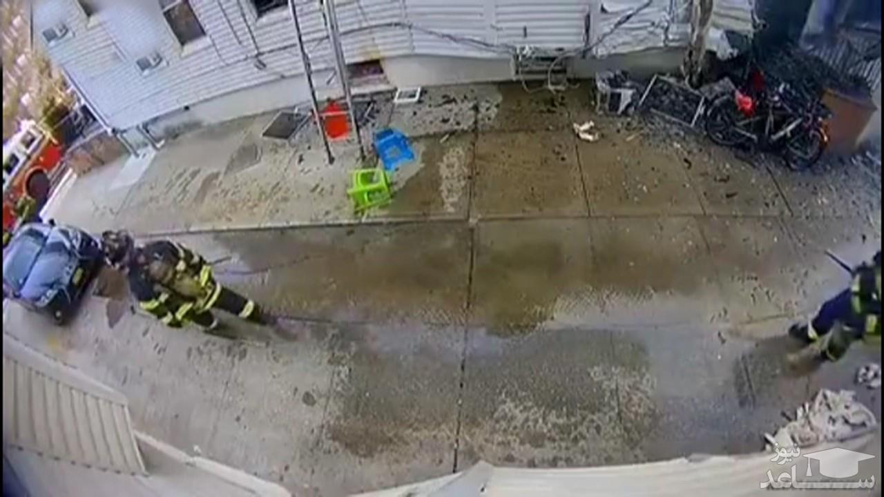 (فیلم) مجروحیت وحشتناک یک آتشنشان در عملیات اطفای حریق